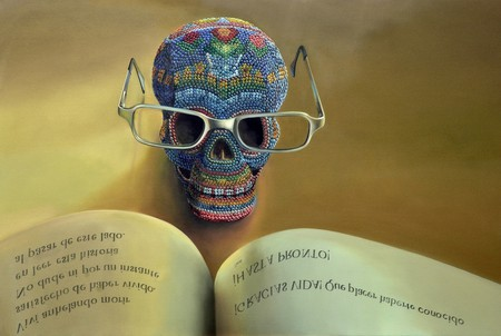 Mexican skull with book   © 1565708 / Pixabay