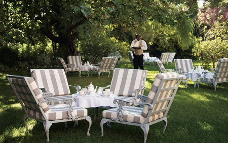 Tea in the garden at Mount Nelson