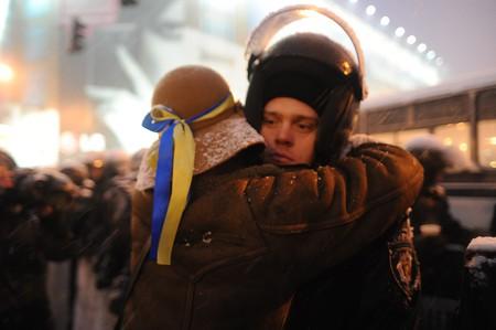 Euromaidan participants   © Mstyslav Chernov/WikiCommons
