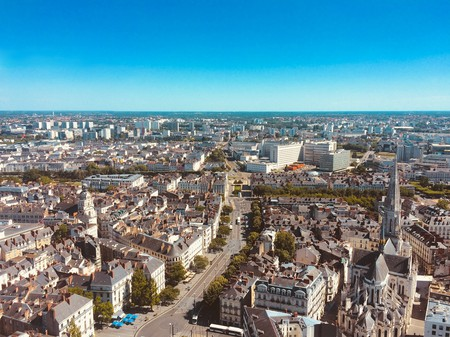 Nantes from the sky | © ahtcx / Pixabay