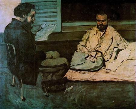 Cézanne's portrait of Zola and Paul Alexis | © Public domain / WikiCommons