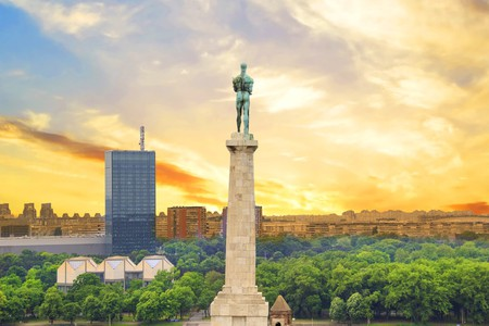The glorious Victor Monument at Kalemegdan