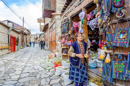 Traditional shops selling colourful souvenirs in Azerbaijan | © Ana Flasker/Shutterstock