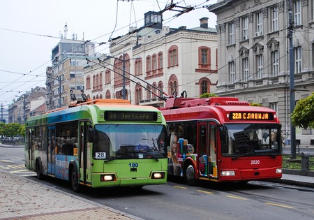 Belgrade's trolleybuses come in old and new varieties