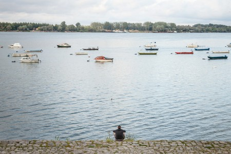 The riverside in Zemun at a quieter time