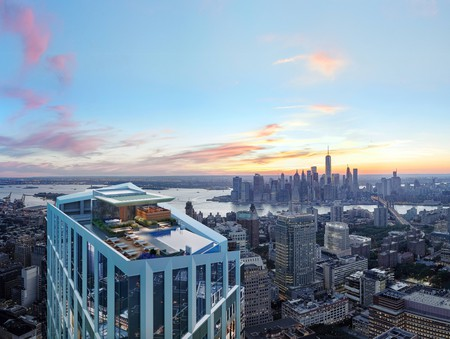 Tallest infinity pool in Western Hemisphere. Image courtesy of Brooklyn Point | © Williams New York