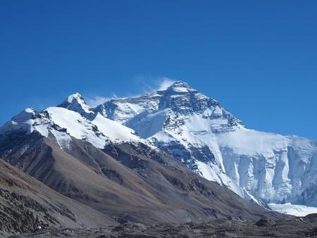 Mt Everest, as seen from Everest Base Camp in Tibet   © Elen Turner