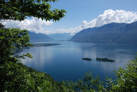 The Isole di Brissago (centre right) would be protected by the new proposed national park
