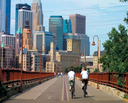 Minneapolis Skyline from the Stone Arch Bridge | © Meet Minneapolis/Flickr