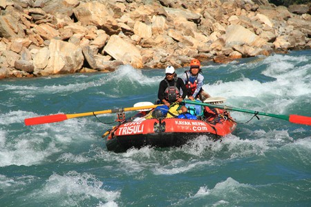 Rafting on the Karnali River | Courtesy of GRG's Adventure Kayaking