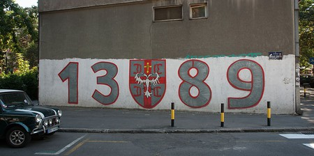 1389 graffiti is everywhere in Serbia