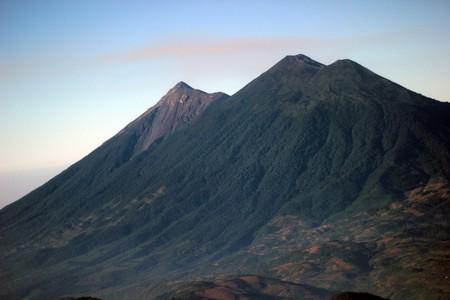 Acatenango volcano with Fuego volcano in the back, Guatemala