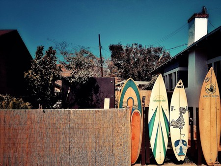 Surfboards in sunny USA
