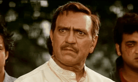 Bollywood actor Amrish Puri playing a typical Indian father in Dilwale Dulhania Le Jayenge   © Yashraj Films
