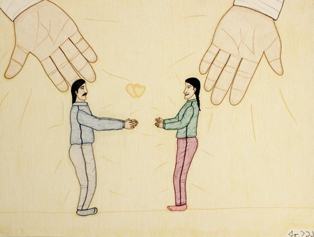 Annie Pootoogook, 1969 - 2016 SHARING GOD'S LOVE, 2002