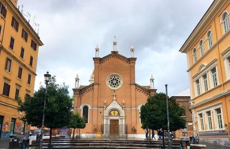 The main piazza in San Lorenzo, Rome   © Emma Law
