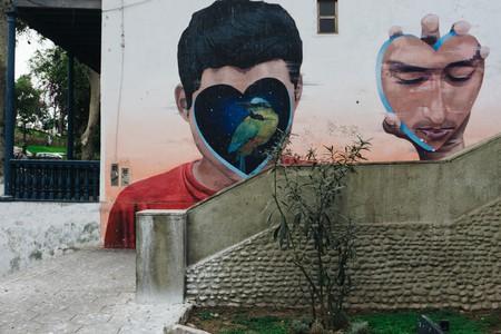A famous street art in Barranco