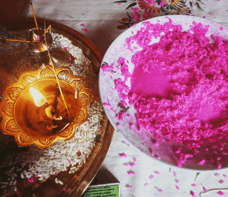Items in a puja   © Lucy Plummer