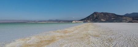 Lake Assal and the volcanic mountains beside, Djibouti |  Zineb Boujrada / The Culture Trip