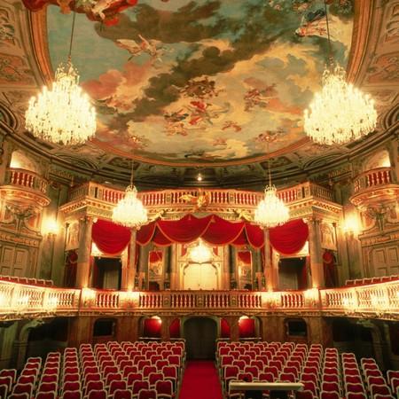 The lavish interior of the Schoenbrunn theatre   Courtesy of the Austrian Tourist Board