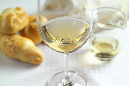 A glass of Austrian white wine