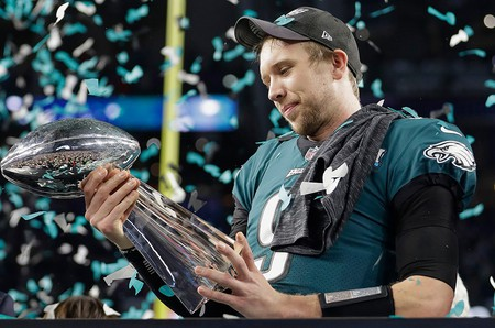 Philadelphia Eagles QB Nick Foles was named Super Bowl LII MVP | © Mark Humphrey/AP/REX/Shutterstock
