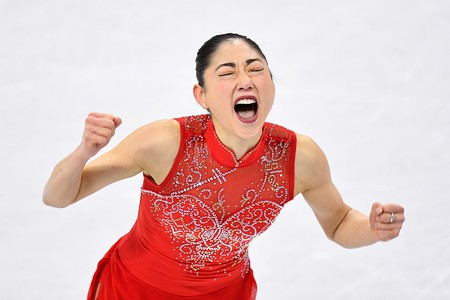 American Mirai Nagasu is the third woman in history to land the triple axel at the Olympics. | © Aflo/REX/Shutterstock