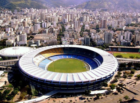 Maracanã stadium in the heart of Rio de Janeiro