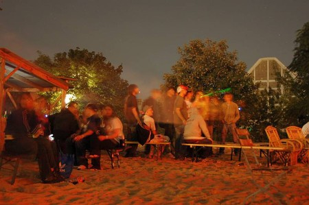 Yaam beach at night