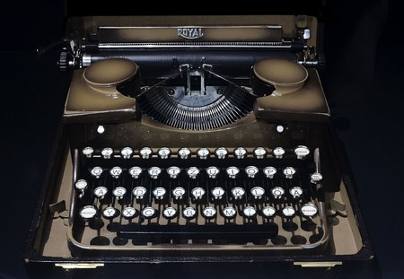 Visitors can participate in collective storytelling on real typewriters at the American Writers Museum