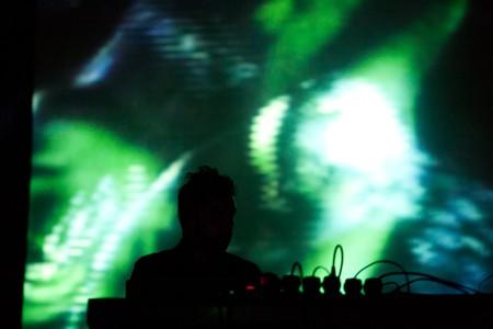 DJ plays at a club in Leipzig
