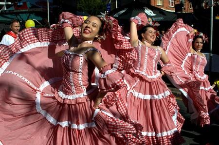Colombians dancing