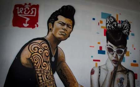 Cool street art in Bangkok