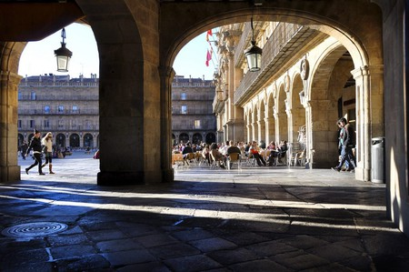 Pavement cafes in Salamanca