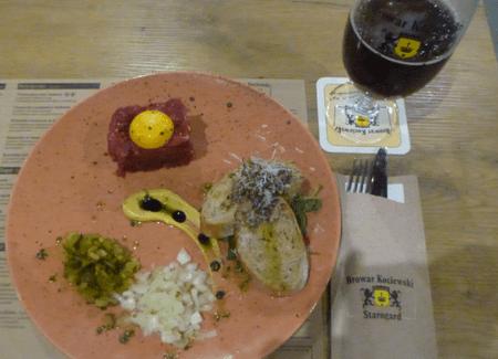 Beer and Tatar in Starogard Gdański