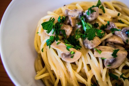 Try the pasta with mushrooms at Gioia