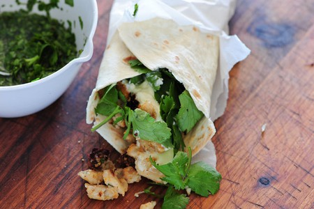 Tuck into a meat-free burrito at Planet Beat