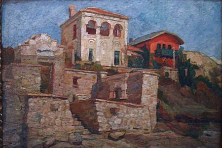 Oil painting in Casa Storck