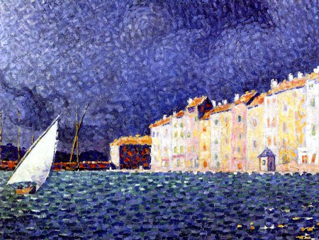 L'orage de Saint Tropez by Signac (The storm of St Tropez) is in the museum Annonciade