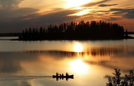 Sunsets on Astotin Lake