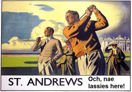 Historic Golf Poster In St Andrews