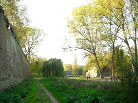 The moat of the Citadelle de Lille