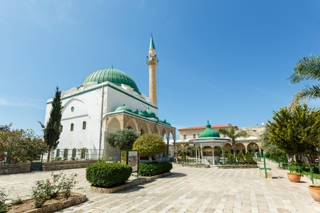 Courtyard of Al-Jazzar Mosque in the Old City of Acre (Akko)