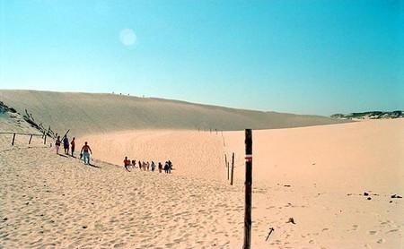 Amazing moving sand dunes