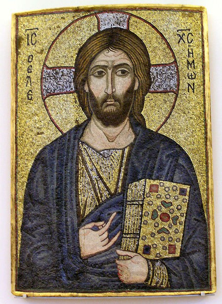 Mosaic of Christ the Merciful
