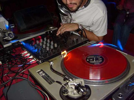DJ Spinning at Firehouse Lounge