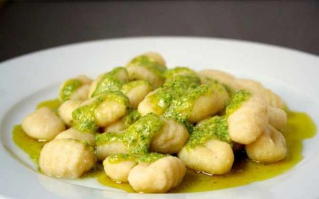gnocchi with sage pesto