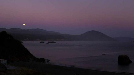 Moonrise in Port Orford, OR