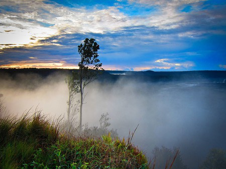 Steam From Kilauea Volcano