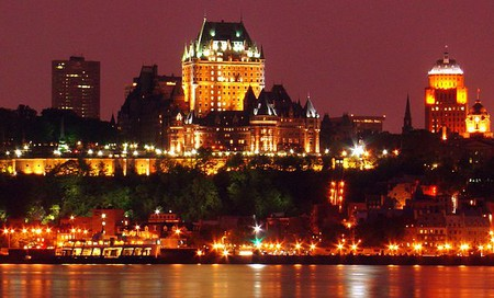 View of Chateau Frontenac and the surrounding area from Levis